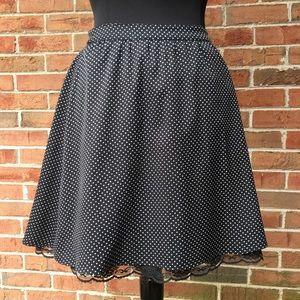 GAP Polka Dot A-Line Skirt  Sz 0